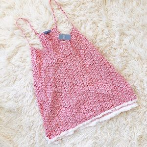 NWT Aerie Red Mini Fringe Tank
